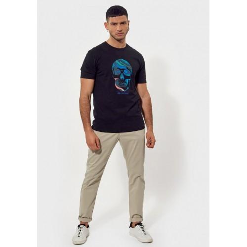 T-shirt homme avec imprimé tête de mort KAPORAL
