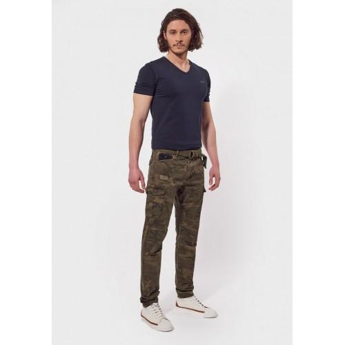 Pantalon slim hommes camouflage KAPORAL