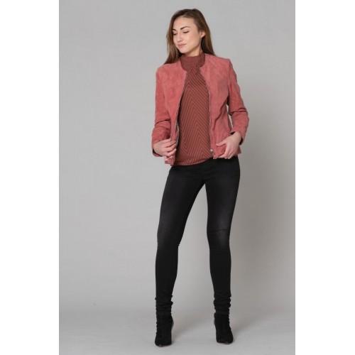 Blouson cuir rose femme Daytona