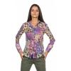 Chemise femme à manches longues , imprimé patch LA CIBLE ROUGE
