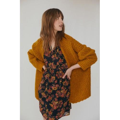 Robe courte en voile motifs fleurs MOLLY BRACKEN