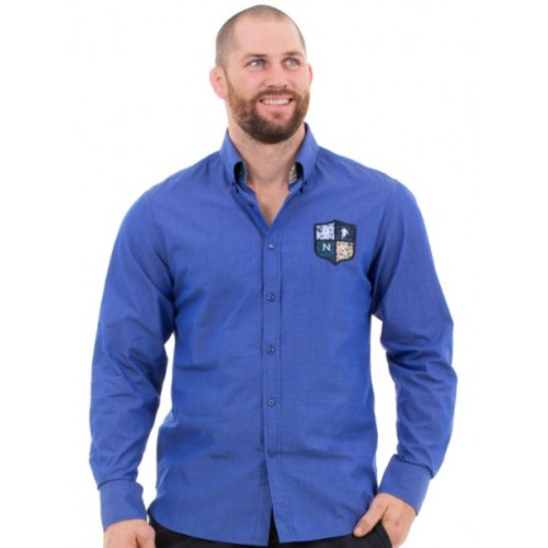 Chemise homme bleu manches longues Ruckfield