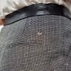Pantalon régular femme imprimé pied de poule KAPORAL