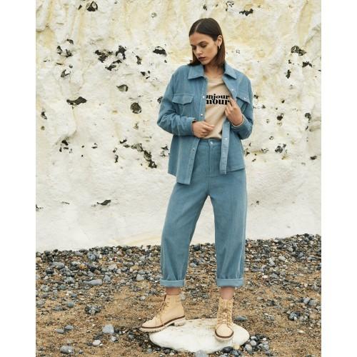 Pantalon femme en velours GRACE & MILA